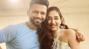 Rahul Vaidya with his ex-girlfriend Disha