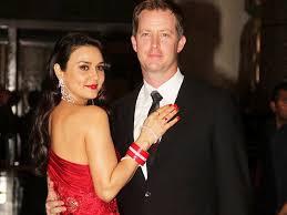 Preity Zinta with her husband Gene