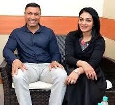 Neeru Bajwa with her husband Harmikpal
