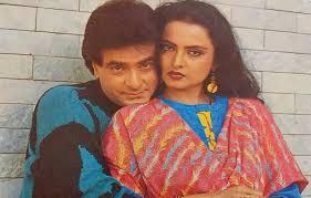 Rekha with her ex-boyfriend Jeetendra