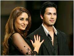 Shahid Kapoor with his ex-girlfriend Kareena