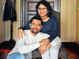 Aamir Khan with her wife Kiran