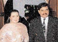 Dawood Ibrahim with his wife Mehjabeen