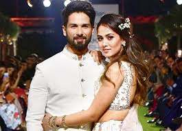 Shahid Kapoor with his wife Mira