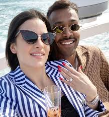 Hardik Pandya with his girlfriend Natasa