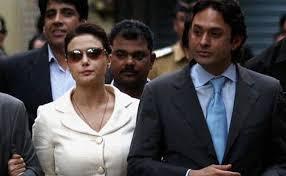 Preity Zinta with her ex-boyfriend Ness