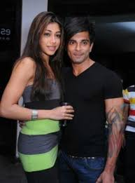 Karan Singh Grover with his ex-girlfriend Nicole