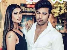 Pavitra Punia with her ex-boyfriend Paras