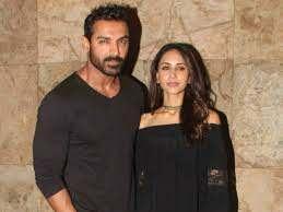 John Abraham with his wife Priya