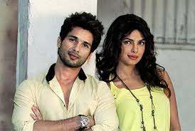 Shahid Kapoor with his ex-girlfriend Priyanka