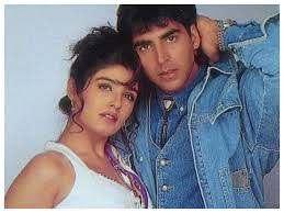 Akshay Kumar with his ex-girlfriend Raveena