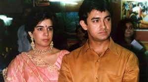 Aamir Khan with her ex-wife Reena