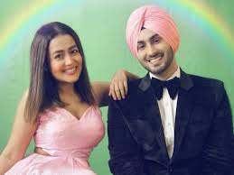 Neha Kakkar with her husband Rohanpreet