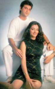 Tabu with her ex-boyfriend Sanjay