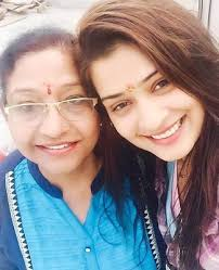 Payal Rajput with her mother