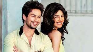 Priyanka Chopra with her ex-boyfriend Shahid