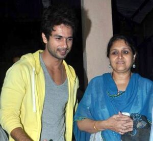 Shahid Kapoor with his step-mother