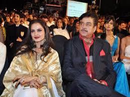 Rekha with her ex-boyfriend Shatrughan