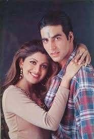 Akshay Kumar with his ex-girlfriend Shilpa