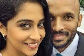 Regina Cassandra with her ex-boyfriend Vikram