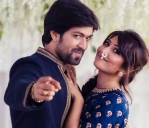 Yash with his wife