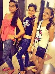 Rubina Dilaik with her sisters