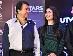 Kareena Kapoor with her father