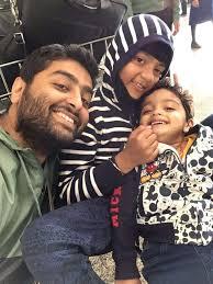 Arijit Singh with his children