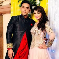 Adaa Khan with her brother