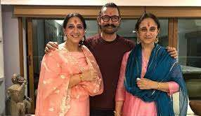 Aamir Khan with her sisters
