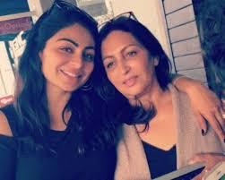 Neeru Bajwa with her mother