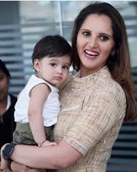 Sania Mirza with her son