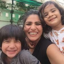 Rubika Liyaquat with her children