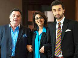Ranbir Kapoor with his parents