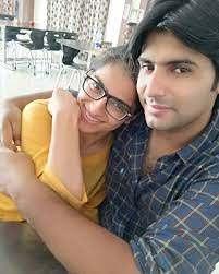 Manya Narang with her husband