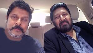 Vikram with his brother
