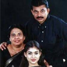 Nayanthara with her parents