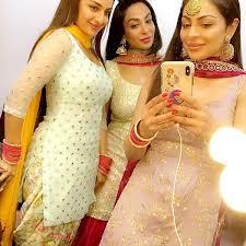 Neeru Bajwa with her sisters
