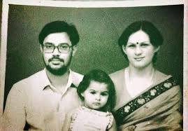 Andrea Jeremiah with her parents
