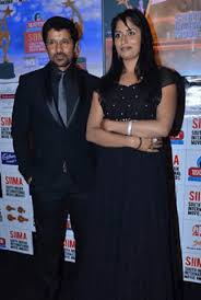 Vikram with his wife