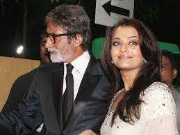 Aishwarya Rai with her father-in-law