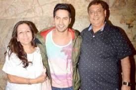 Varun Dhawan with his parents
