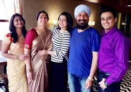 Charmy Kaur with her family
