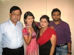 Kratika Sengar with her family