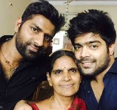 LV Revanth with his mother & brother