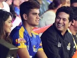 Sachin Tendulkar with his son