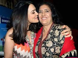 Preity Zinta with her mother