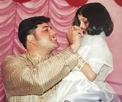 Tunisha Sharma with her father