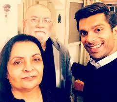 Karan Singh Grover with his parents