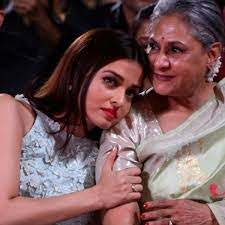 Aishwarya Rai with her mother-in-law